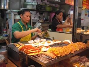 Making Thai Crispy pancakes